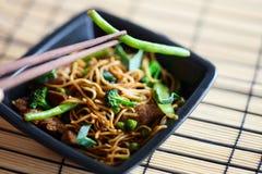 Wok delicioso de la carne Foto de archivo libre de regalías