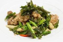 Wok fried chicken with vegetables Stock Image