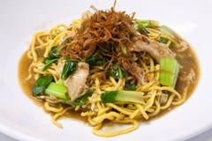 Wok fried Phuket egg noodles Stock Photos