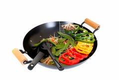 Wok met groenten royalty-vrije stock foto
