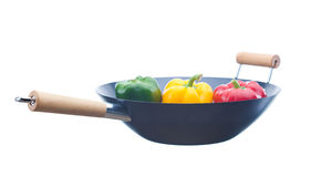 Wok with Paprika Royalty Free Stock Images