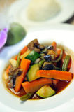 Wok steamed vegetables Royalty Free Stock Photography