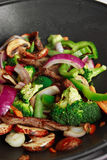 Wok stir fry Stock Image