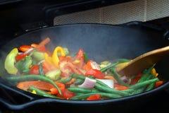 Wok stir fry Stock Photos