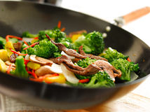 Wok stir fry closeup Stock Image