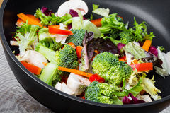 Wok stir fry Royalty Free Stock Photos