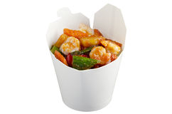 Wok to go Royalty Free Stock Image