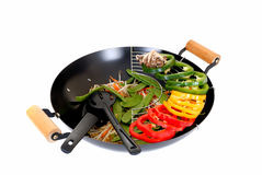 Wok with vegetables Royalty Free Stock Photo