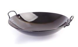 Woka asia matlagning wokar på bakgrund. royaltyfri fotografi