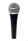 Wokalnie mikrofonu zakończenie up odizolowywający Obrazy Royalty Free