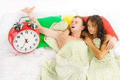 Woke up difficulties at monday Royalty Free Stock Image
