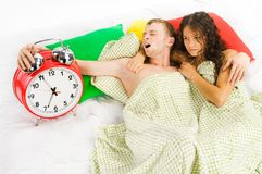 Woke up difficulties at monday Royalty Free Stock Images