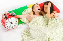 Woke up difficulties at monday Stock Photography