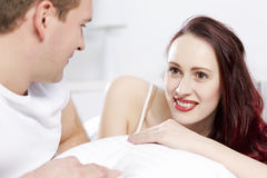Woke up together Stock Photography