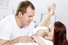 Woke up together Royalty Free Stock Photos