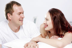 Woke up together Royalty Free Stock Photography