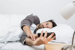 Woken up by calling Stock Image