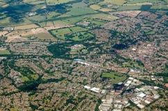 Wokingham, Berkshire - vue aérienne image libre de droits