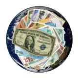 wokoło banknotów walut papierowego światu Zdjęcia Royalty Free