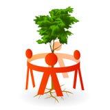 wokoło cięcia zieleni dzieciaków papierowego drzewa Zdjęcia Stock