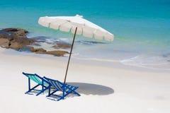 Wokoło dennego widok krzesła plażowy spojrzenie Obrazy Stock