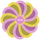 Wokoło 2018 hiszpańskich kalendarzy Zdjęcia Stock