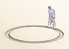 wokoło idzie ilustracja wektor