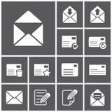 wokoło ikona strzałkowatego błękitny listu Obraz Stock