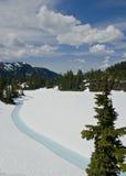 wokoło meltwater zamarzniętego jeziornego pustkowia Fotografia Royalty Free