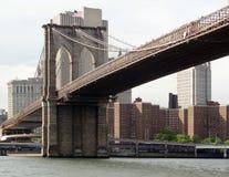 Wokoło mosta brooklyńskiego w Nowy Jork Fotografia Stock