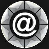 wokoło strzałkowatego błękitny pojęcia e koperty inside poczta prześcieradła symbolu biel ilustracja wektor