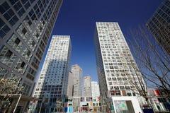 wokoło budynków cbd wysokiego wzrosta Obraz Royalty Free
