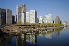 wokoło budynków cbd wysokiego wzrosta Fotografia Stock