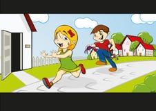 wokoło dzieci target500_0_ Zdjęcia Royalty Free