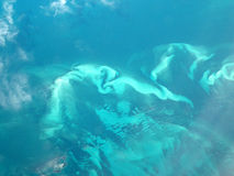 wokoło formaci wyspy fala Zdjęcie Royalty Free