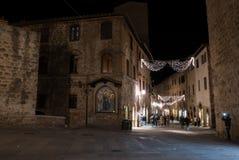 Wokoło nocy dla San Gimignano przy zdjęcie royalty free