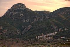 Wokoło wioski toga w Castellon Zdjęcie Stock