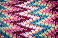 Wol kleurrijke sjaal Royalty-vrije Stock Fotografie
