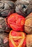 Wol in verschillende kleuren royalty-vrije stock foto