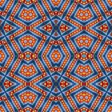 Wol warm levendig kleurrijk patroon voor plakboek, naadloze caleidoscoopmontering voor kussen, deken, hoofdkussen, plaid, tafelkl Royalty-vrije Stock Afbeeldingen