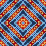Wol warm levendig kleurrijk patroon voor plakboek, naadloze caleidoscoopmontering voor kussen, deken, hoofdkussen, plaid, tafelkl Stock Afbeeldingen