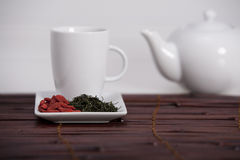 Wolberry tea presentation Stock Photo
