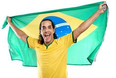 Wold cup fan brazil Royalty Free Stock Images