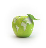 Wold map apple Royalty Free Stock Photos
