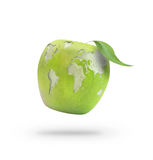 Wold map apple Royalty Free Stock Photography