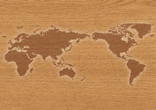 Wold wood map Stock Image