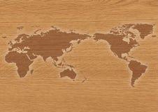 Woldholzkarte Stockbild