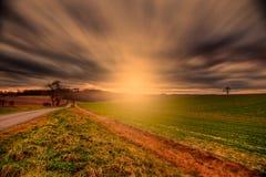 wolds захода солнца Стоковая Фотография RF