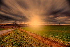 Wolds Sunset Royalty Free Stock Photography