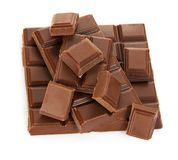 Wole-Fliese der Milchschokolade und der Scheiben Stockfoto